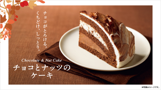 チョコとナッツのケーキ